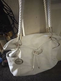 white and gray leather tote bag Hesperia, 92345