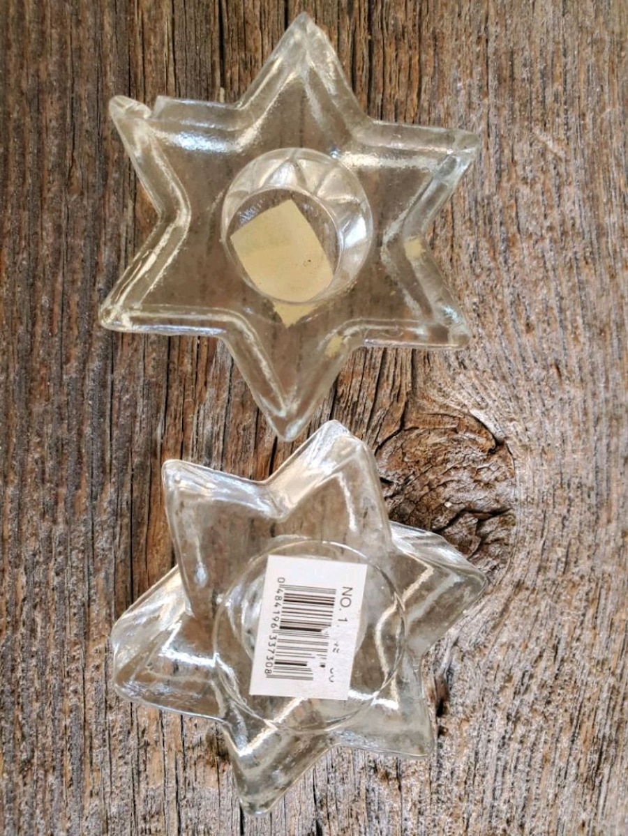Photo 2 Glass Star Candle Holders