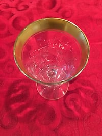 Vintage gol-trimmed wine and liqueur glasses in assorted sizes Casselberry, 32707