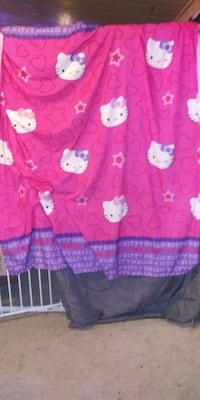 Hello kitty Bathroom shower curtain tb holder throw rugs towes and clo