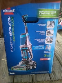 black and gray Bissell upright vacuum cleaner box Modesto, 95351