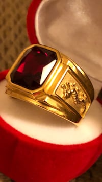 New gold plated ring for men on sale $40 good quality  21 mi