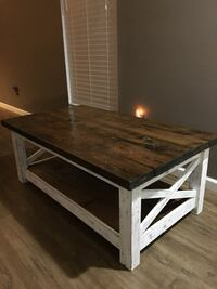 Rectangular brown and white wooden table Augusta, 30907