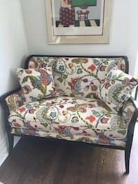 white, red, and green floral sofa chair Toronto, M4V 2K9