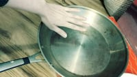 2 pans for egg frying stainless steel, heavy duty