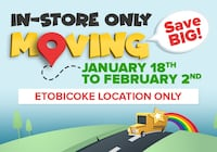 Toy Warehouse Closing Sale On Now Toronto, M8W 3R1