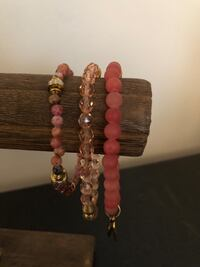 Chavez for Charity set of 3 pink bracelets Gainesville