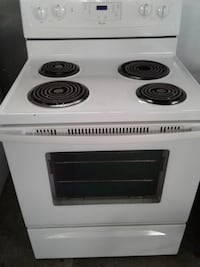 white electric coil range oven null