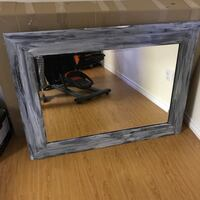 Rectangular distressed  wooden framed mirror Vaughan, L4H 1R3