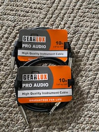 2 Gearlux 10' Instrument Cables Bel Air, 21015