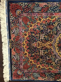 red, white, and green floral area rug TORONTO