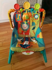baby's blue and red bouncer Boisbriand