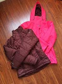 Columbia Women Insulated Interchange Jacket Waterproof, Insulated 2 in 1 Jacket Size: Small Colour: Pink Condition: Like New