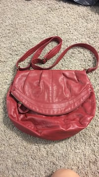 women's red leather hobo bag