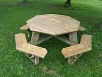 brown wooden picnic table set Brunswick, 44212