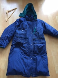 Ladies long down coat by Sequence with detachable hood, size 12-14 - $55 - sell or trade for a small or medium long warm coat; this is a very warm coat with pockets  Erin Mills, Mississauga Mississauga