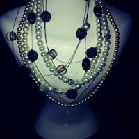 silver and blue beaded necklace Ottawa, K1K 1H7