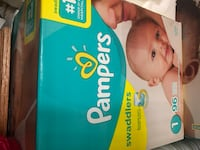 Size one pampers diapers Mississauga, L5B 4B9