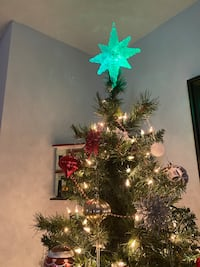 Christmas tree with lights and includes decoration