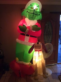 The Grinch that stole Christmas inflatable with max 6foot tall Los Angeles, 91331