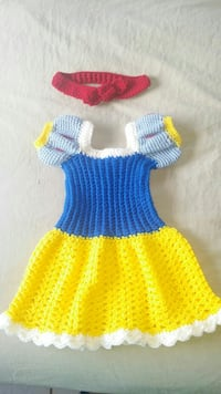 Snow white dress costume