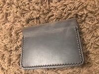 2 hand made leather wallet card holder  3120 km