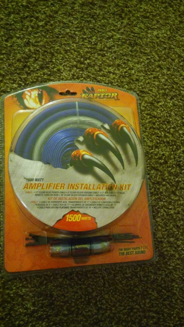 blue Raptor 1500 Watt amplifier installation kit p