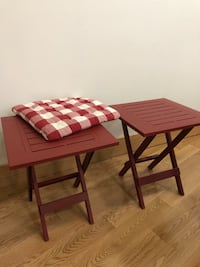 Red Plastic Side Tables & Matching Chair Cushion Vaughan, L4L 4Z1