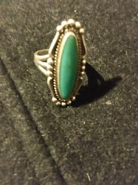 Beautiful 925 Stamped & Turquoise Ring