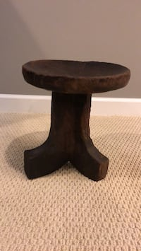 Hand carved  African  tribal stool Upper Marlboro, 20774