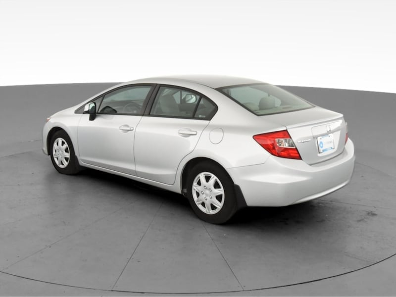 2012 Honda Civic sedan LX Sedan 4D Burgundy  6