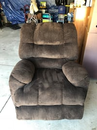 Brown suede recliner sofa chair or Best offer