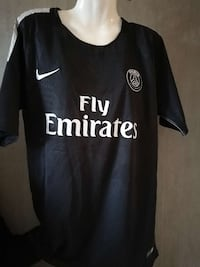 Maillot de football Fly Emirates noir et blanc