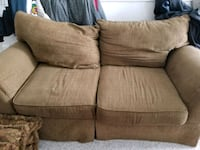 brown fabric 2-seat sofa Reston, 20190