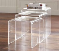 3 piece Stackable Acrylic side tables Chevy Chase, 20815
