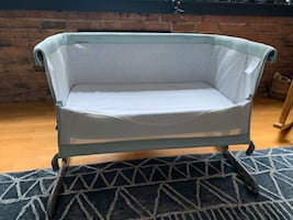 Chicco Next 2 Me Side Sleeping Crib - Dusty Green