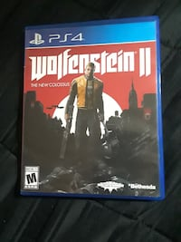 Wolfenstein 2 for PS4 $24 Grand Prairie, 75050