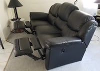 black leather home theater sofa San Diego, 92093