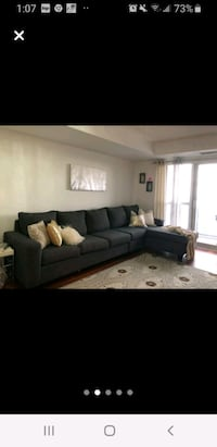 dark grey sofa  Ajax, L1T 4K3