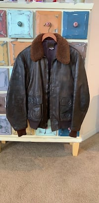Authentic Navy Leather Jacket Ashburn, 20148