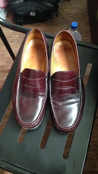 men's cherry-brown leather penny loafers 372 mi