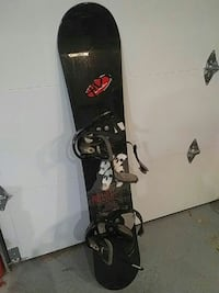 "56"" snowboard with Burton bindings"