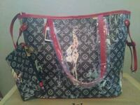 black and red Louis Vuitton leather tote bag Minneapolis, 55445