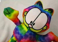 "Garfield Rainbow Tie-Dye 9"" Plush Stuffed Animal Summerville"