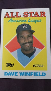 All Star Dave Winfield trading card 1987.