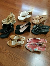 Lot Shoes sizes 8to9 vary. Selling as lot