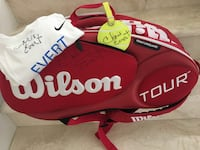 Autographed CHRIS EVERT Wilson Tennis RAQUET Bag, Ball Luggage Tag & T