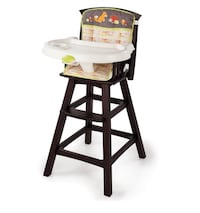 Baby high chair wooden