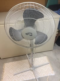 Hampton Bay Adjustable Oscillating Floor Fan.
