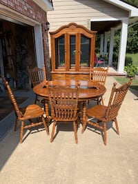 ALL WOOD Dining Set & China Cabinet